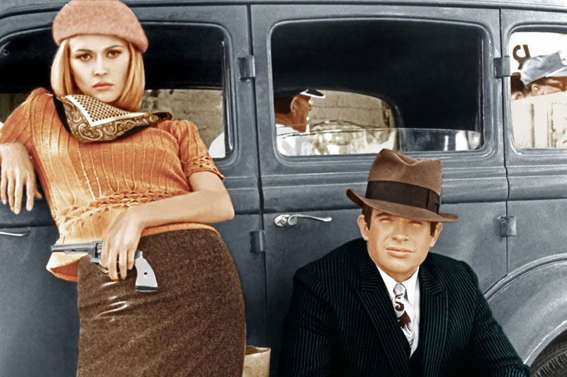 Bonnie and clyde, film road trip