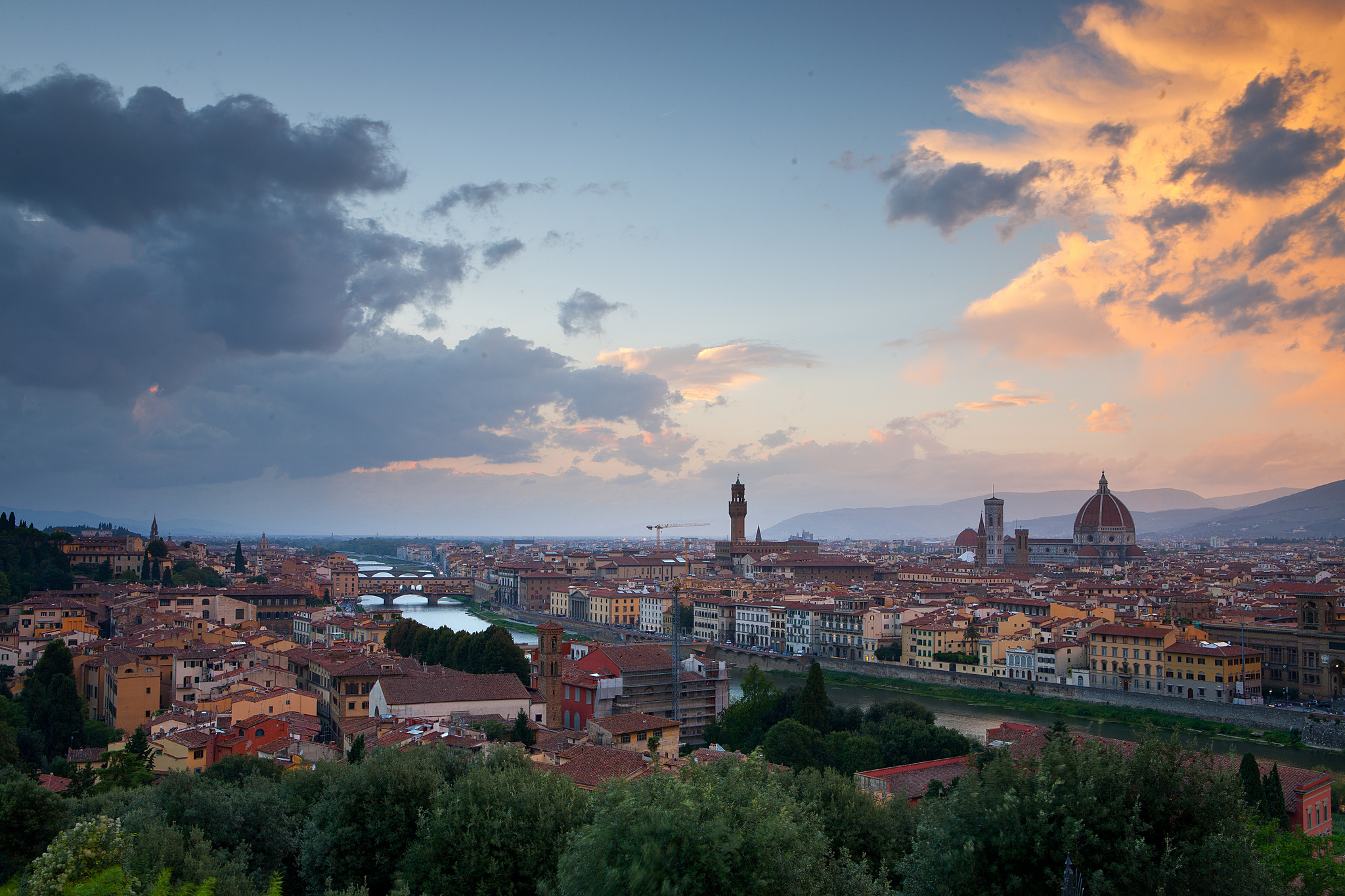 florence-sunset